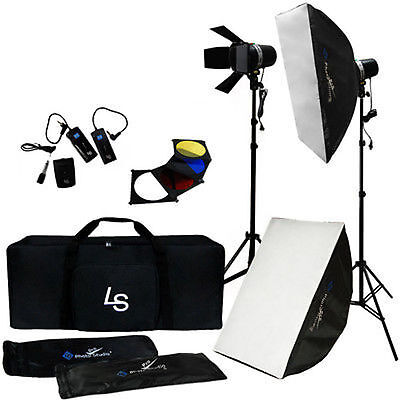Photo Studio Kit Complete Flash Strobe Light & Softbox Stand Set Photography Kit