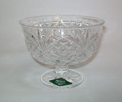 Godinger Shannon Crystal Doublin Ice Cream Footed Dessert Bowl s