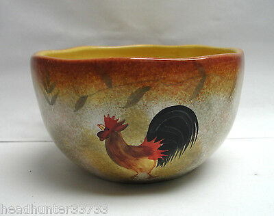 222 FIFTH CHINA - TUSCAN VINE (rooster) Pattern - SOUP/CEREAL BOWL