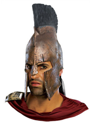 Adult 300 Movie Deluxe King Leonidas Roman Spartan Helmet Costume Accessory