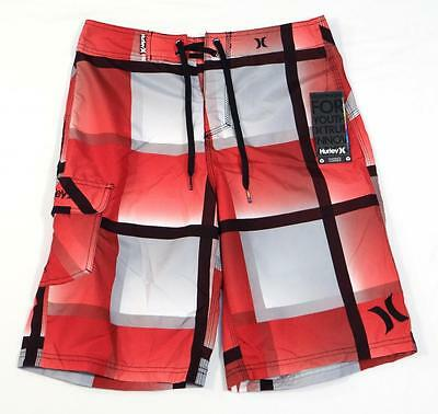 5347c6024a Hurley Mirror Red & Gray Boardshorts Swim Trunks Regenerated Content Mens  NWT