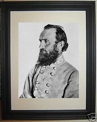 Stonewall Jackson General Civil War Framed Photo Picture