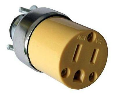 Female Extension Cord Replacement Electrical Plugs 15AMP 125V 3 Prong
