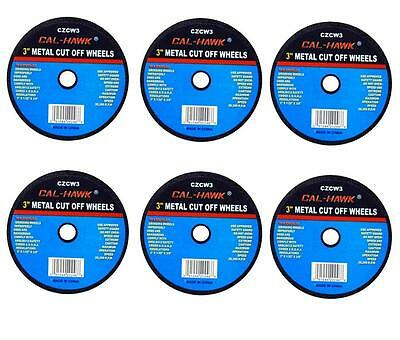 "6 PC 3"" Cut Off Wheel For Metal Cutting Disc Grinders 1/32"" Thickness 3/8"" Arbor"