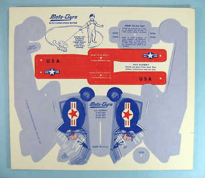 MOTO-GYRO Punch-Out TOY HELICOPTER early 1960's