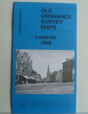 Old Ordnance Survey Maps Lockerbie Dunfriesshire Scotland 1898 Godfrey Edition