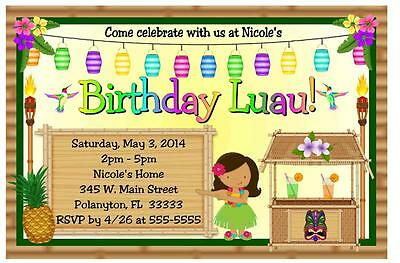 Luau Birthday Invitations Design -  #1