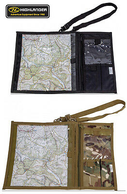 Army Combat Military Map Document Shoulder Binder Case Waterproof Black Camo