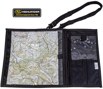 Hiking Camping Walking Map Shoulder Binder Holder Case Waterproof Bag Black New