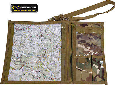 Army Combat Military Map Shoulder Binder Holder Case Waterproof Surplus Camo