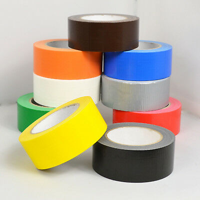 48mm x 40m Duck Duct Gaffa Gaffer Waterproof Adhesive Repair Cloth Tape 9 Colour