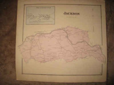 Antique 1868 Jackson Township Kratzerville Snyder County Pennsylvania Hndclr Map