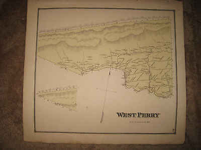 Antique 1868 West Perry Township  Snyder County Pennsylvania Handcolored Map Nr