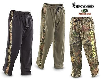 BROWNING Buckmark LOUNGE Sweat PANT CAMO Leg Stripe *Black or Loden Green SMALL*