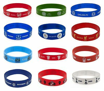 OFFICIAL FOOTBALL CLUB - Rubber WRISTBANDS (Silicone) One Size Fits All Band