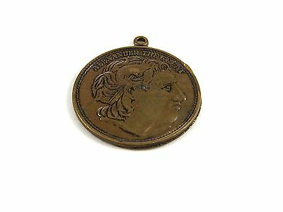 Vintage Alexander The Great 2 Sided Pendant / Coin