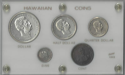 Hawaii Complete Set Coins 1847-1883