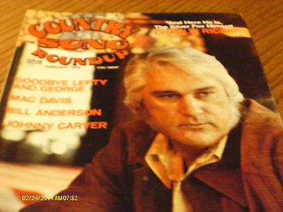 Charlie Rich  Covers Country Song Roundup Magazine February 1976 Lefty Frizzell