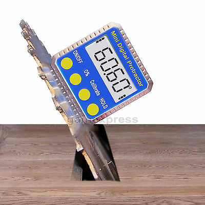 New Digital Bevel Box Inclinometer Angle Gauge Meter Protractor 360° with Magnet