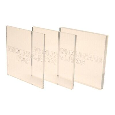 Clear Acrylic Perspex Plastic Sheet Custom Cut to Size Panels 1mm to 12mm Thick