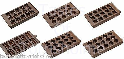 Kitchen Craft Reusable Silicone Individual Handmade Chocolate Making Moulds Tray