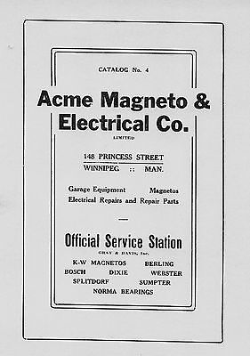 Acme Magneto  and  Electric Co. Catalog No. 4