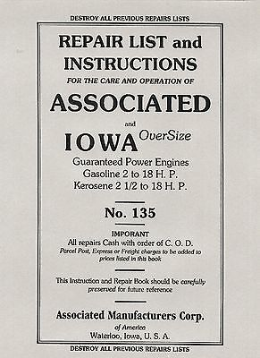 Associated and Iowa OverSize Instruction & Repair Book