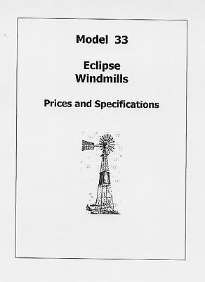 Eclipse Windmill Model 33 Prices and Specifications