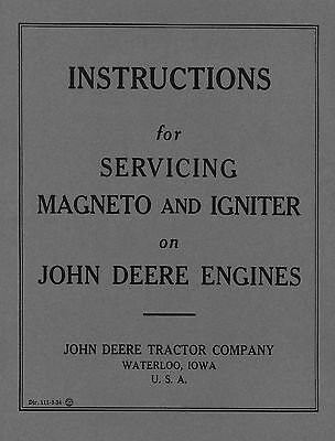 John Deere Magneto and Igniter Service Instructions