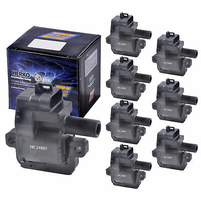 Set of 8 Herko B031 Ignition Coils For Cadillac Chevrolet GM LS1 LS6 1997-2005