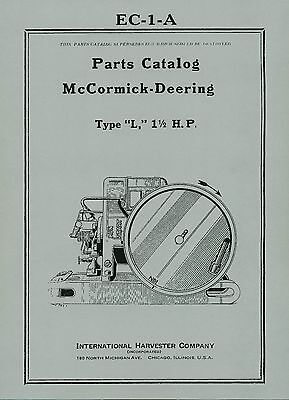 McCormick Deering  Type  L  Parts Catalog