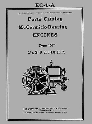 McCormick Deering  Type  M  Parts Catalog