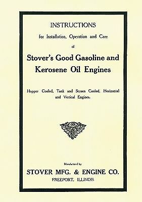 Stover's Gas and Kerosene  Engine Instruction Book
