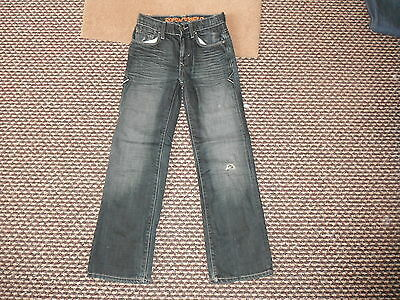 "John Rocha Straight Leg Jeans Waist 25"" Leg 26"" Faded Dark Blue Boys 10Yrs Jeans"