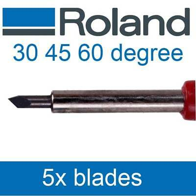 5x Vinyl Cutter Blade Knife Compatible for Roland Vinyl Cutter 45°