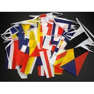 Nautical Bunting 12.7M 40 Flags - Colourful Banner Sailing Boats Ships Seaside