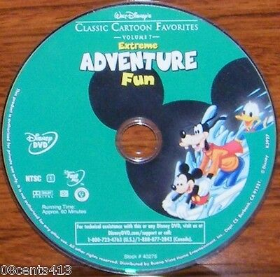 Walt Disney's Classic Cartoon Favorites - Extreme Adventure Fun Vol 7 (DVD) Disc