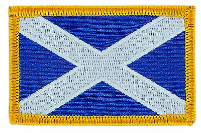 Flag Patch Patches Scotland Scottish Iron On Country Embroidered World Flag