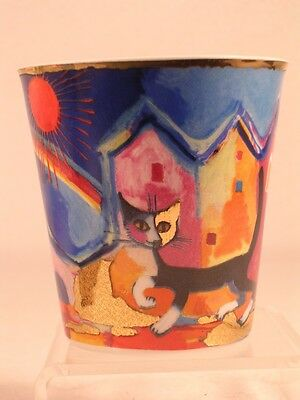 Goebel Rosina Wachtmeister 'Amico'-Cat Votive / TeaLight Holder  #128177  NEW!