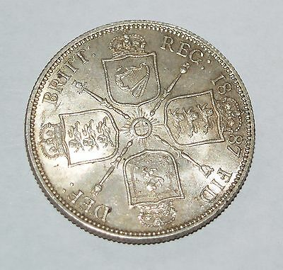 Great Britain - SILVER HALF FLORIN  - VICTORIA - 1887  Extra Fine - GREAT COIN
