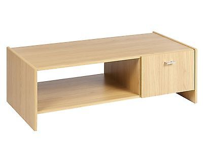 Rosario Oak Effect Wood Coffee Console TV Table Stand Living Room Furniture Unit