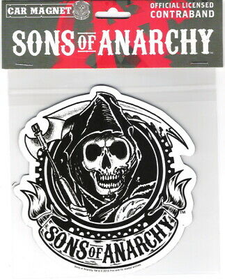 Sons of Anarchy TV Series Reaper Figure Large Car Magnet, NEW UNUSED