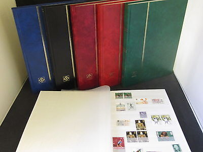 LIGHTHOUSE 16 PAGE STAMP ALBUM WITH WHITE PAGES 16pg STOCKBOOK, CHOICE 4 COLOURS