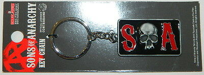 Sons of Anarchy TV Series S Skull A Logo Metal Keychain, NEW UNUSED