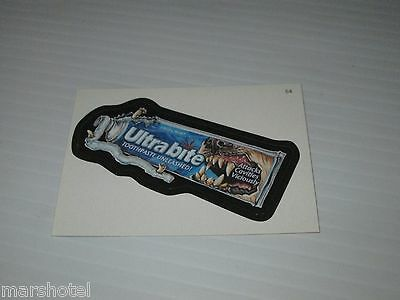 TOPPS WACKY PACKAGES #54 ULTRABITE TOOTHPASTE SPOOF PARODY TRADING CARD STICKER