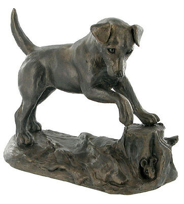 Jack Russell Terrier Bronze Resin Model Sculpture Hunting Gift