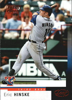 2004 Leaf Press Proofs Red #93 Eric Hinske