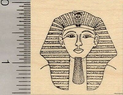 Egyptian King Tut Rubber Stamp, Pharaoh Tutankhamun E1105 WM