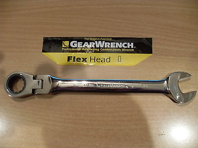 New Gearwrench Flex Head Sae / Metric Ratcheting Combination Wrench~Choose Size