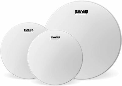 "Evans G2 Coated Fusion 10"",12"",14"" Tom Drum Head Pack ETP-G2CTD-F"